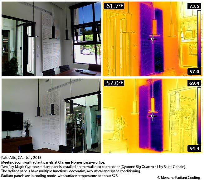 Ray Magic acoustical radiant panels Gyptone Quattro 41