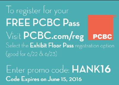 PCBC 2016 free pass