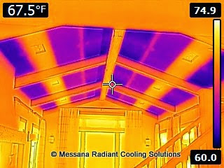 radiant cooling infrared image